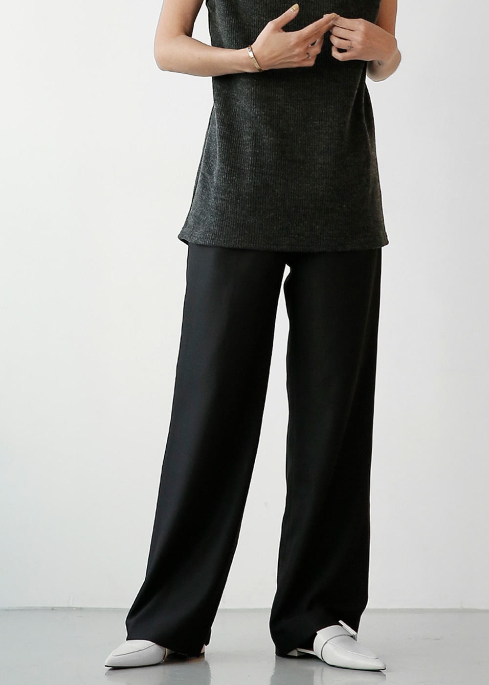 High Wide Leg Trouser