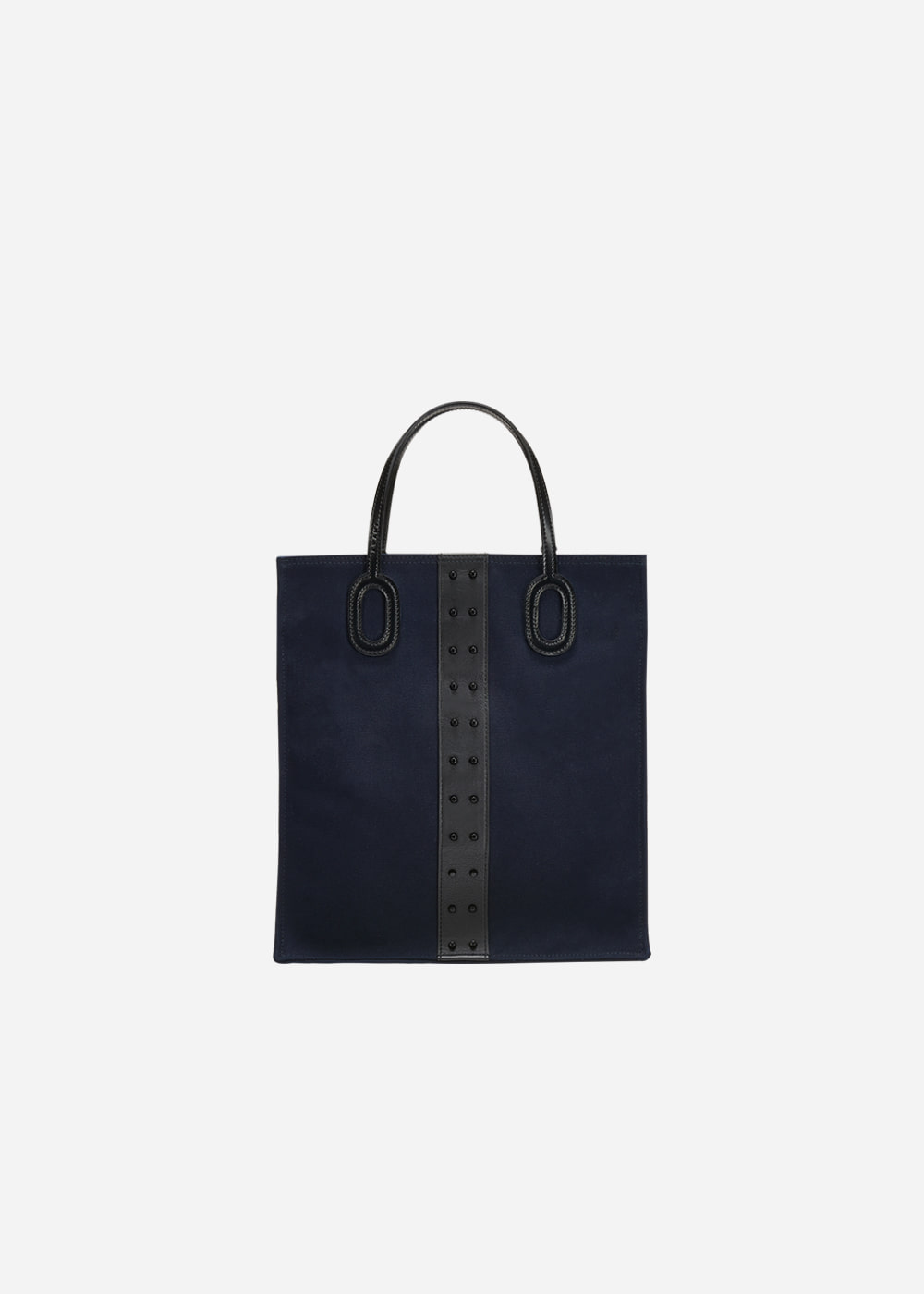 O Handle Tote Oxford Navy