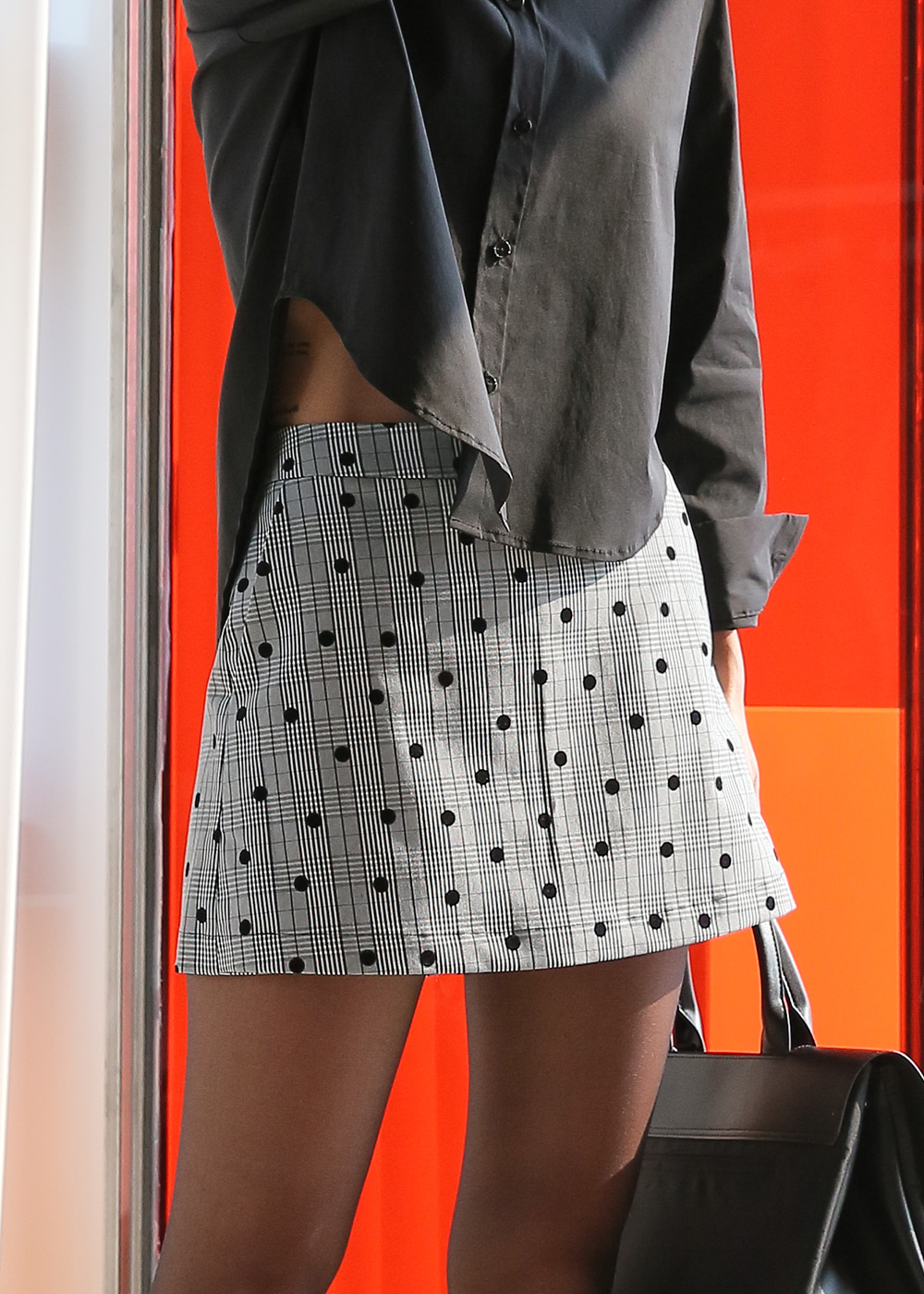 Velvet Dots in Check Set_Culotte