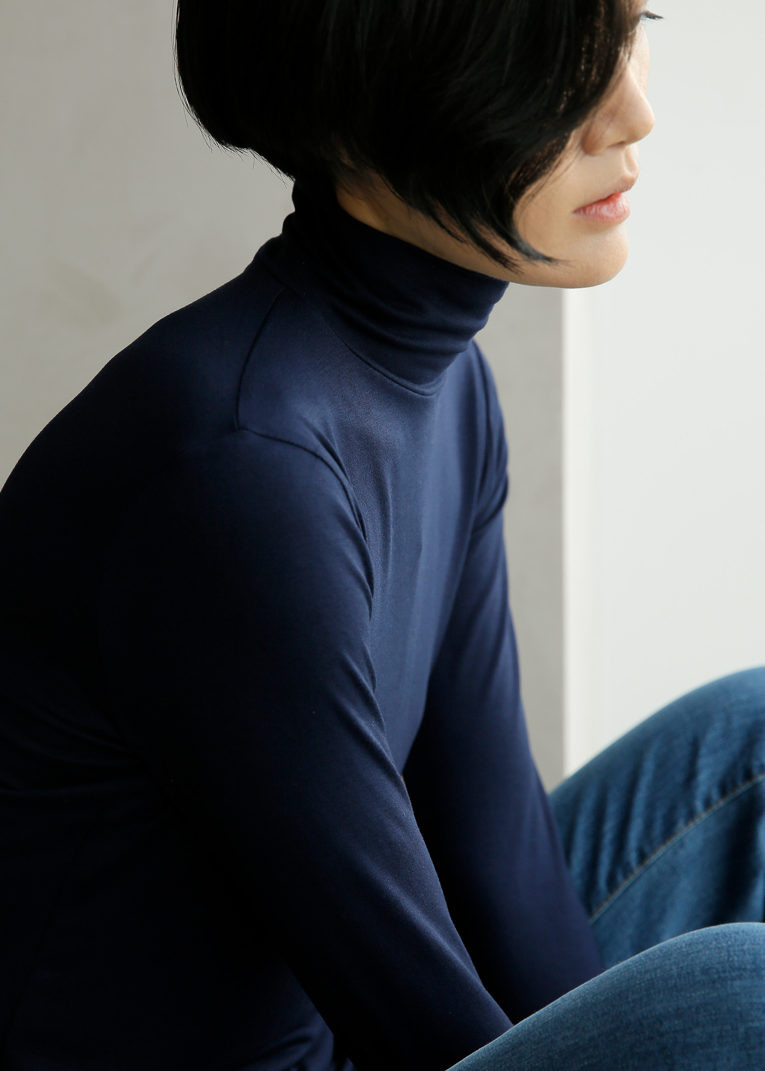 Super Soft Cotton Turtleneck